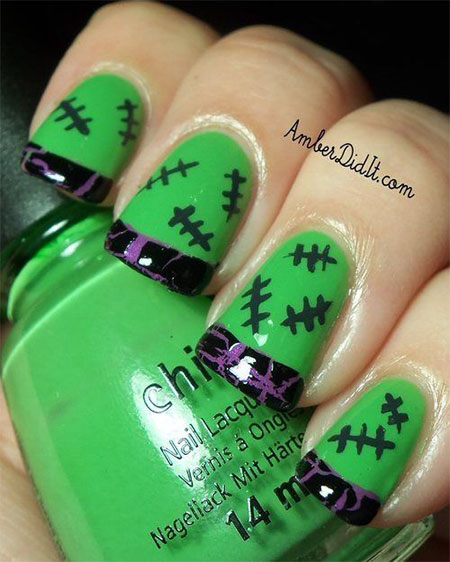 20+ Simple & Easy Halloween Themed Nails Art Designs 2016