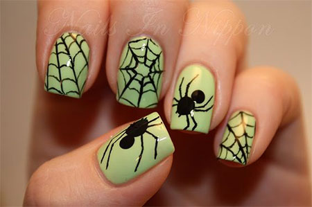 12-halloween-spider-web-nail-art-designs-ideas- - 12+ Halloween Spider Web Nail Art Designs & Ideas 2016 Fabulous