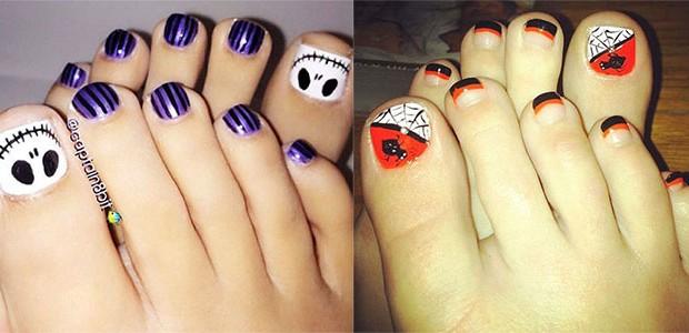 12 Halloween Toe Nail Art Designs & Ideas 2016