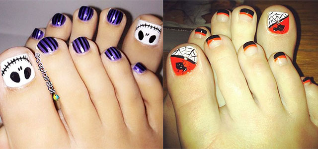 12 Halloween Toe Nail Art Designs & Ideas 2016 | Fabulous Nail Art Designs - 12 Halloween Toe Nail Art Designs & Ideas 2016 Fabulous Nail Art
