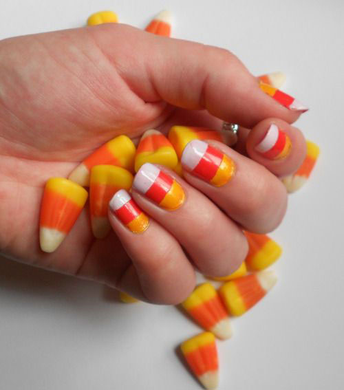 15 Halloween Candy Corn Nail Art Designs Ideas 2016 Fabulous
