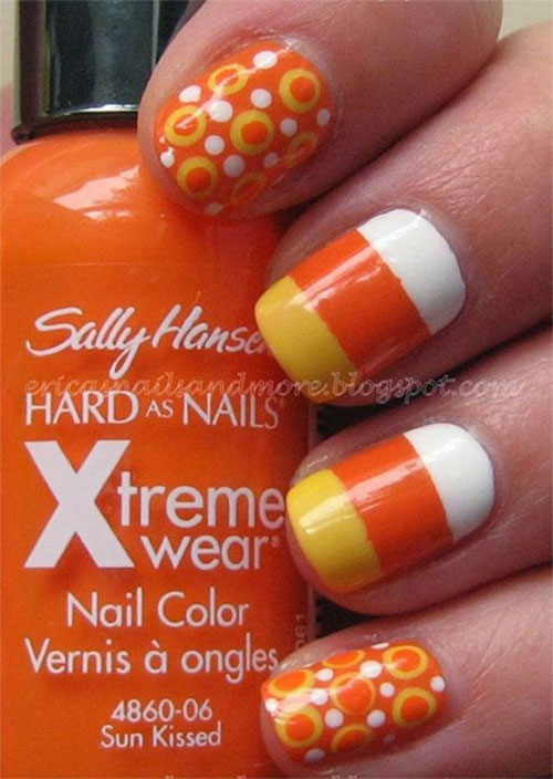 15 Halloween Candy Corn Nail Art Designs & Ideas 2016 ...
