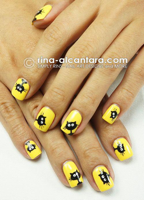 15-halloween-cat-nail-art-designs-ideas-2016-1