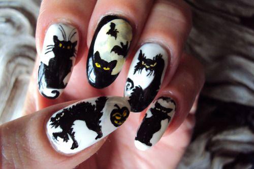 15-halloween-cat-nail-art-designs-ideas-2016-14