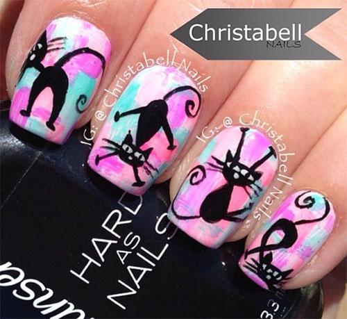 15-halloween-cat-nail-art-designs-ideas-2016-4