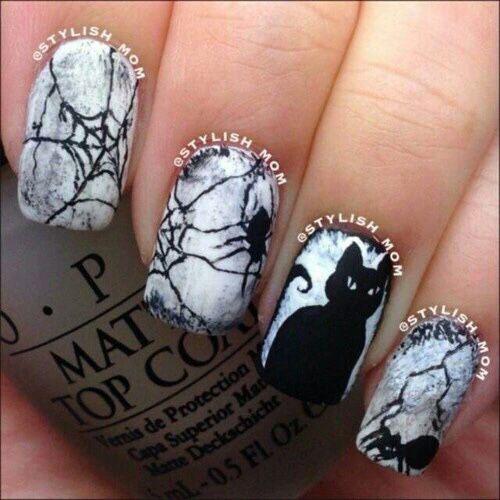 15-halloween-cat-nail-art-designs-ideas-2016-5
