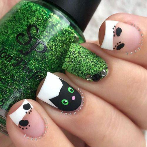 15-halloween-cat-nail-art-designs-ideas-2016-8
