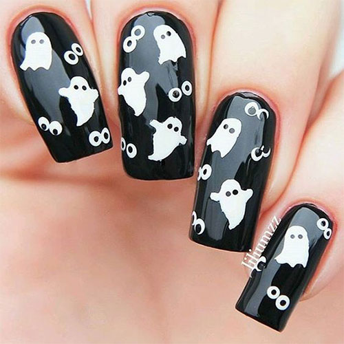 15 halloween ghost nails art designs amp ideas 2016