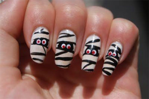 15-halloween-mummy-nail-art-designs-ideas-2016-14