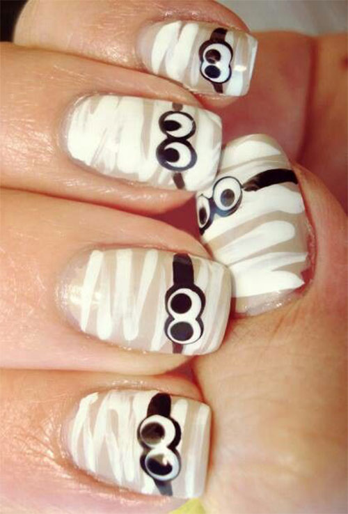 15-halloween-mummy-nail-art-designs-ideas-2016-16