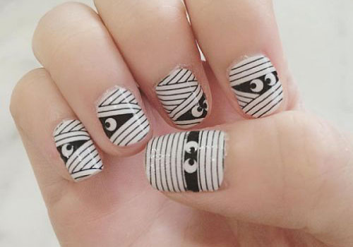 15-halloween-mummy-nail-art-designs-ideas-2016-9