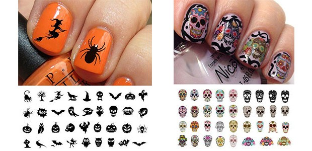 15+ Spooky & Cute Halloween Nail Decals & Stickers 2016