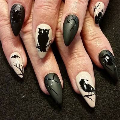15-spooky-halloween-nails-art-designs-ideas-2016- - 15 Spooky Halloween Nails Art Designs & Ideas 2016 Fabulous Nail
