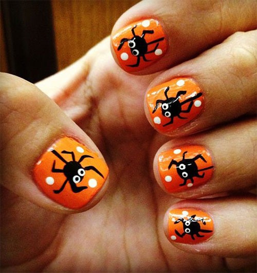 18 Best Black Halloween Nails Art Designs Amp Ideas 2016