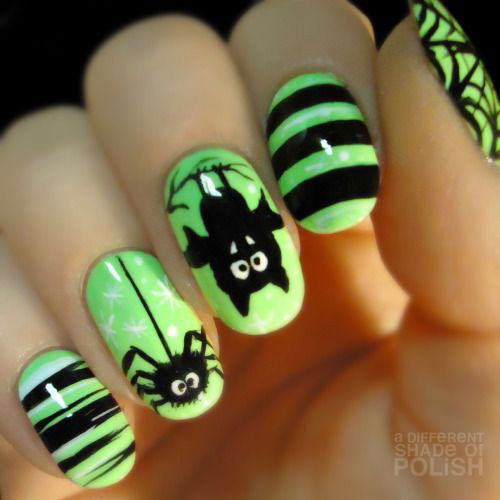 18 Best Black Halloween Nails Art Designs & Ideas 2016