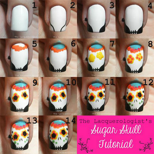 18 best easy halloween nails art tutorials for - Halloween Easy Nail Art