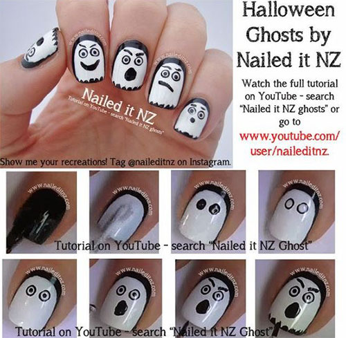 18 Best Easy Halloween Nails Art Tutorials For Beginners