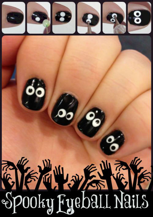18 Best & Easy Halloween Nails Art Tutorials For Beginners ...