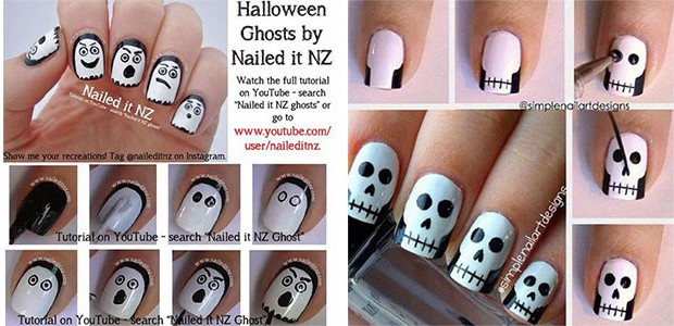 18 Best & Easy Halloween Nails Art Tutorials For Beginners & Learners 2016