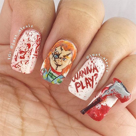 18 scary halloween nail art designs ideas 2016 fabulous nail 18 scary halloween nail art designs ideas 2016 prinsesfo Images