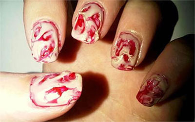 20-Zombie-Nail-Art-Designs-Ideas-2016-Halloween- - 20+ Zombie Nail Art Designs & Ideas 2016 Halloween Nails