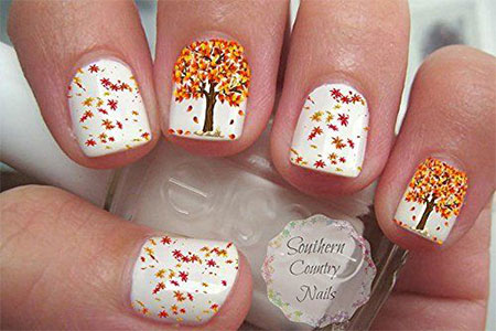 10-autumn-nail-art-stickers-decals-2016-5 - 10 Autumn Nail Art Stickers & Decals 2016 Fabulous Nail Art Designs