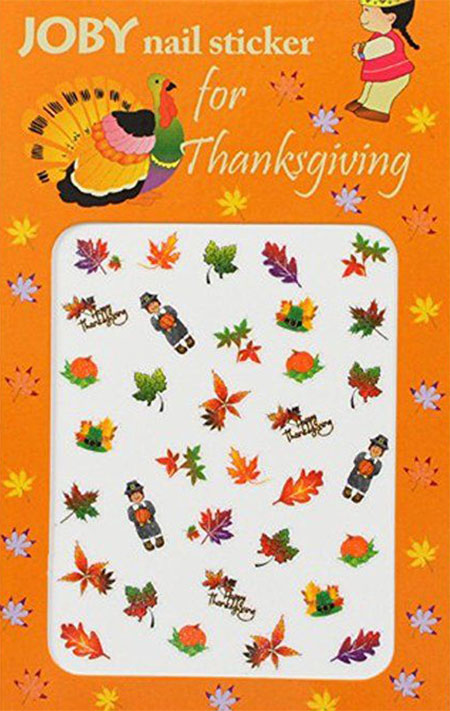 10+ Thanksgiving Nail Decals & Stickers 2016 | Fabulous Nail Art Designs