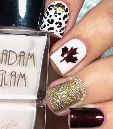 Simple Fall Nail Designs: 12 Easy Autumn Nail Art Designs & Ideas 2016