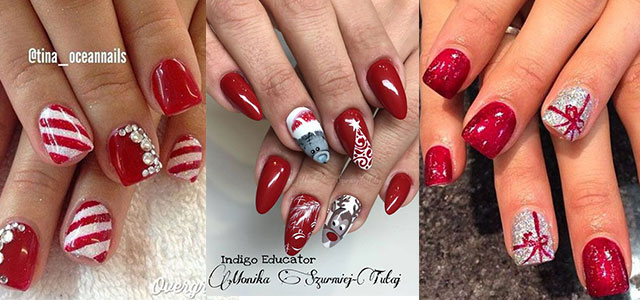 15 Christmas Gel Nails Art Designs & Ideas 2016 | Fabulous Nail Art Designs - 15 Christmas Gel Nails Art Designs & Ideas 2016 Fabulous Nail Art