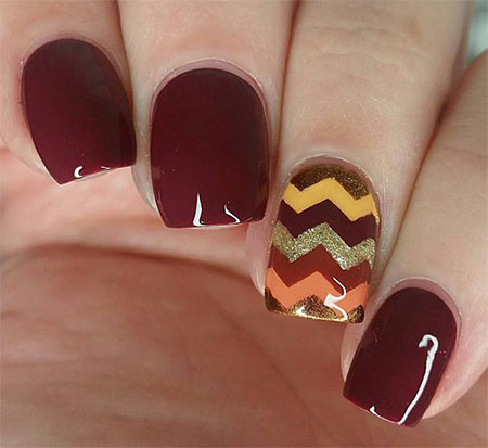 15 Easy Thanksgiving Nail Art Designs Ideas 2016 Fabulous Nail