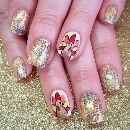 18-turkey-nail-art-designs-ideas-2016-thanksgiving-nails-1