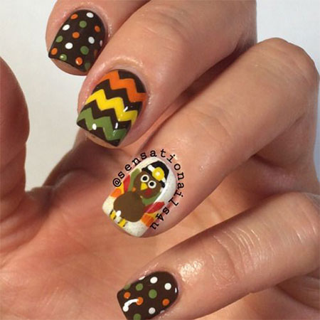 18 Turkey Nail Art Designs Ideas 2016 Thanksgiving Nails
