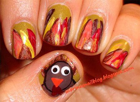 18-turkey-nail-art-designs-ideas-2016-thanksgiving-nails-12