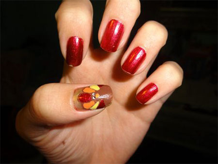 18-turkey-nail-art-designs-ideas-2016-thanksgiving-nails-15