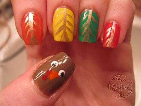 18-turkey-nail-art-designs-ideas-2016-thanksgiving-nails-16