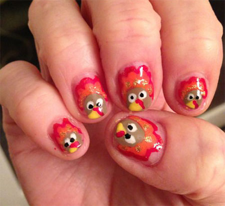 18-turkey-nail-art-designs-ideas-2016-thanksgiving-nails-17