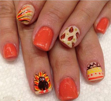 18-turkey-nail-art-designs-ideas-2016-thanksgiving-nails-3