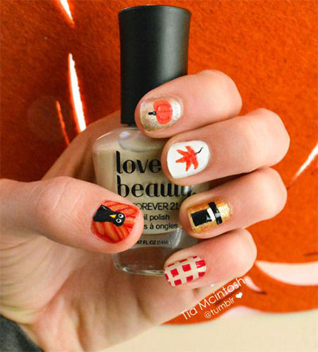 18-turkey-nail-art-designs-ideas-2016-thanksgiving-nails-5