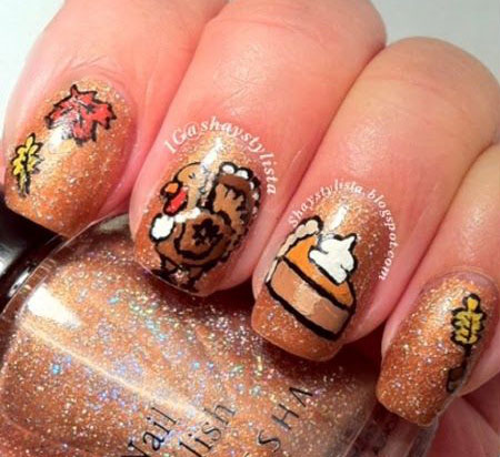 18-turkey-nail-art-designs-ideas-2016-thanksgiving-nails-6