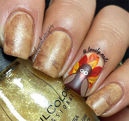 18-turkey-nail-art-designs-ideas-2016-thanksgiving-nails-7
