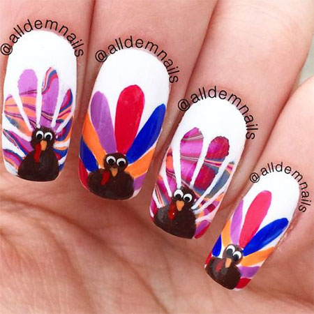 18-turkey-nail-art-designs-ideas-2016-thanksgiving-nails-9
