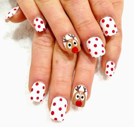 20 Easy Cute Christmas Nails Art Designs Ideas