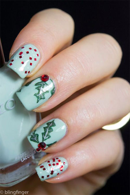 20-easy-cute-christmas-nails-art-designs-ideas-2016-6