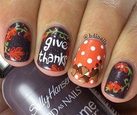 30 Best Thanksgiving Nails Art Designs Ideas 2016 Fabulous Nail