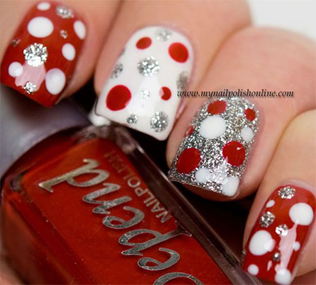 12 red green amp white christmas nail art designs amp ideas