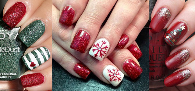 12 red green white christmas nail art designs ideas 2016 xmas nails fabulous nail art designs