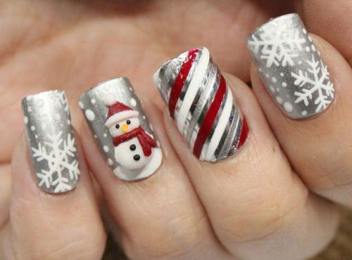 15+ Christmas Glitter Acrylic Nail Art Designs 2016 | Xmas Nails ...