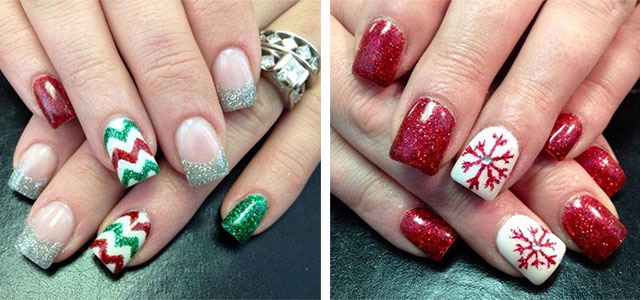 15+ Christmas Glitter Acrylic Nail Art Designs 2016 | Xmas Nails | Fabulous  Nail Art Designs - 15+ Christmas Glitter Acrylic Nail Art Designs 2016 Xmas Nails