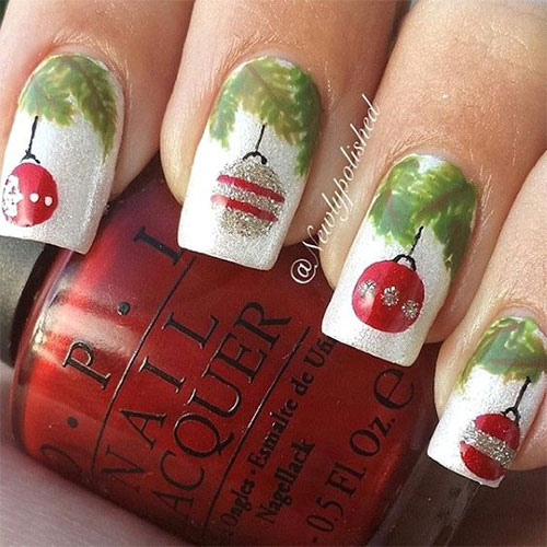 christmas ornament nail art - photo #2