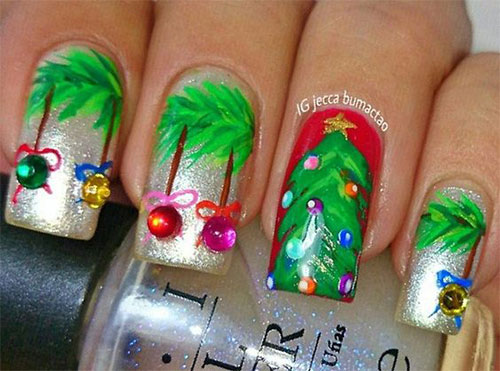 15 christmas ornament nail art designs amp ideas 2016 xmas